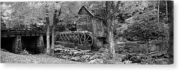 Power Station In A Forest, Glade Creek Canvas Print by Panoramic Images