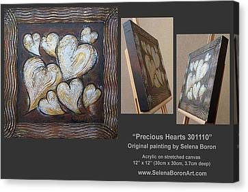 Precious Hearts 301110 Canvas Print by Selena Boron