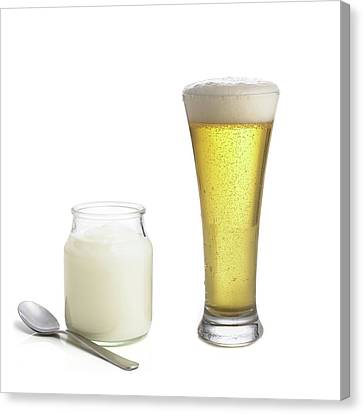 Products Of Fermentation Canvas Print by Science Photo Library