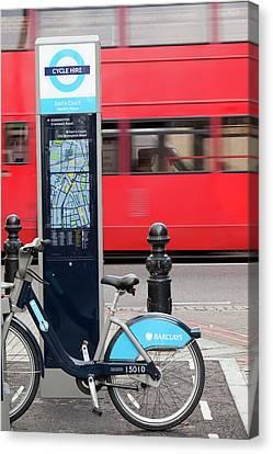 Public Bike Hire Scheme Canvas Print by Ashley Cooper