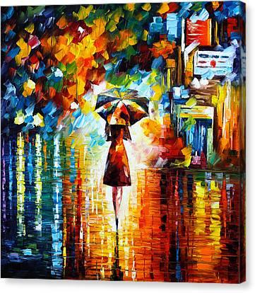 Rain Princess Canvas Print by Leonid Afremov