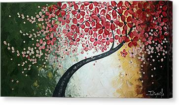 Red Blossoms Canvas Print by Tomoko Koyama
