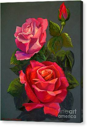 3 Reds Canvas Print by Susan M Fleischer