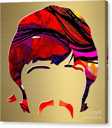 Ringo Starr Gold Series Canvas Print by Marvin Blaine