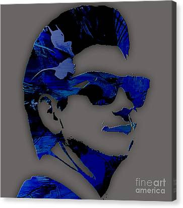 Roy Orbison Collection. Canvas Print by Marvin Blaine