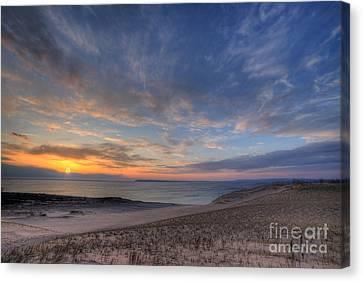 Sleeping Bear Dunes Sunset Canvas Print by Twenty Two North Photography