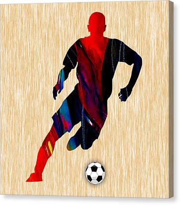 Soccer Canvas Print by Marvin Blaine
