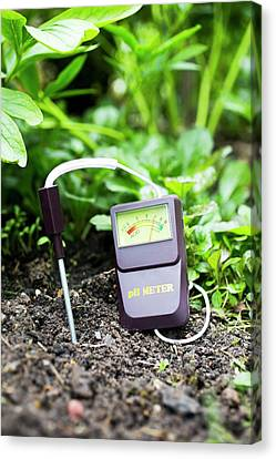 Soil Ph Meter Canvas Print by Science Photo Library