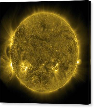 Solar Activity, Sdo Ultraviolet Image Canvas Print by Science Photo Library