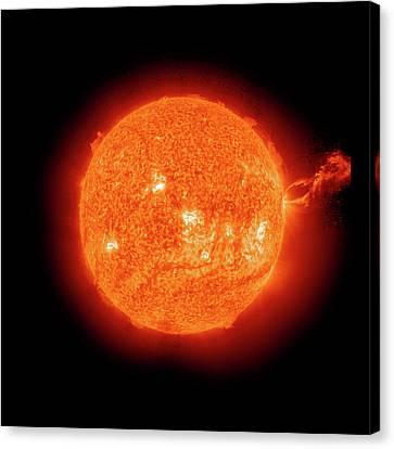 Solar Prominence Canvas Print by Nasa