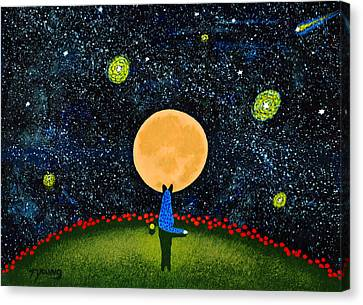 Starry Sky Canvas Print by Todd Young