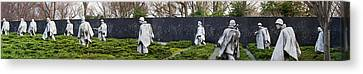 Statues Of Soldiers At A War Memorial Canvas Print by Panoramic Images