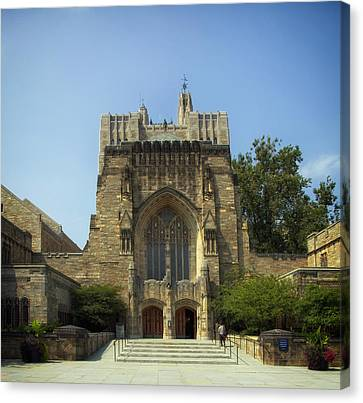 Sterling Memorial Library - Yale University Canvas Print by Mountain Dreams