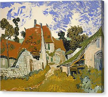 Street In Auvers-sur-oise Canvas Print by Mountain Dreams