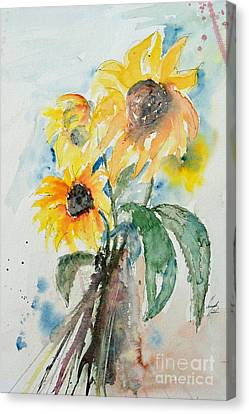 Sunflowers Canvas Print by Ismeta Gruenwald