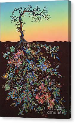 Sunset Canvas Print by Erika Pochybova
