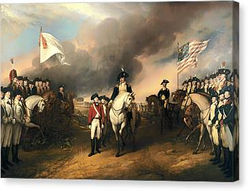 Surrender Of Lord Cornwallis Canvas Print by Mountain Dreams