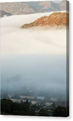 Temperature Inversion Over Ambleside Canvas Print by Ashley Cooper