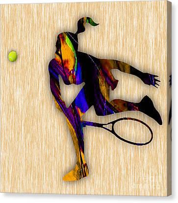 Tennis Canvas Print by Marvin Blaine