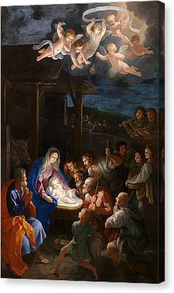The Adoration Of The Shepherds Canvas Print by Guido Reni