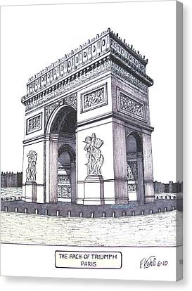 The Arch Of Triumph Canvas Print by Frederic Kohli