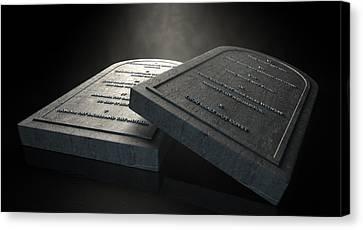 The Ten Commandments Canvas Print by Allan Swart
