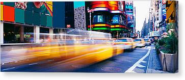 Times Square, Nyc, New York City, New Canvas Print by Panoramic Images