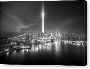 Tribute In Light Canvas Print by Tim Drivas