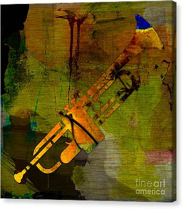 Trumpet Canvas Print by Marvin Blaine