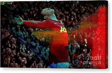 Wayne Rooney Canvas Print by Marvin Blaine