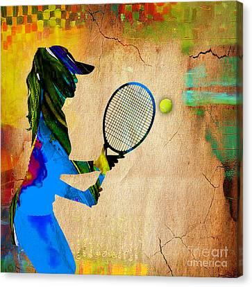 Womens Tennis Canvas Print by Marvin Blaine