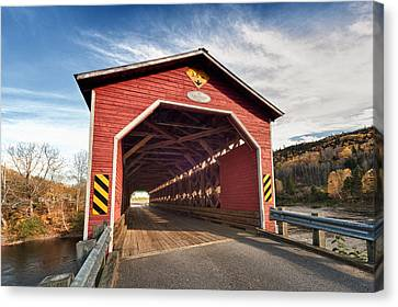 Wooden Covered Bridge  Canvas Print by Ulrich Schade