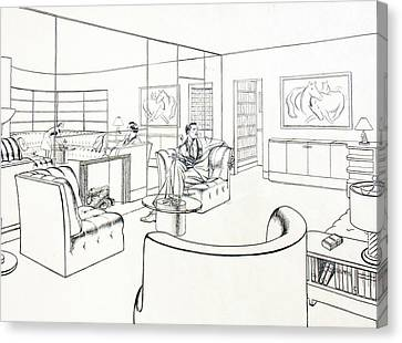 Moderne Man Cave Canvas Print by Robert Poole