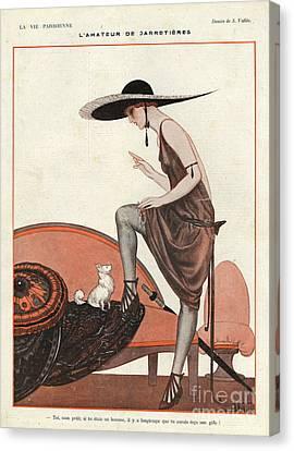 La Vie Parisienne 1922 1920s France Canvas Print by The Advertising Archives