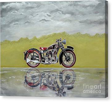 31 Matchless Silverhawk Canvas Print by John Lyes