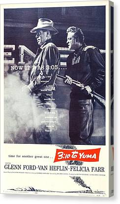 310 To Yuma, Us Poster, From Left Glenn Canvas Print by Everett