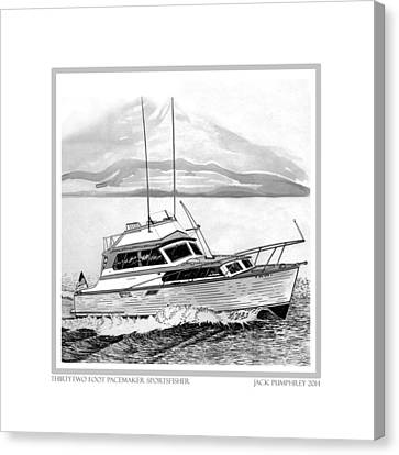 32 Foot Pacemaker Sportsfisher Canvas Print by Jack Pumphrey