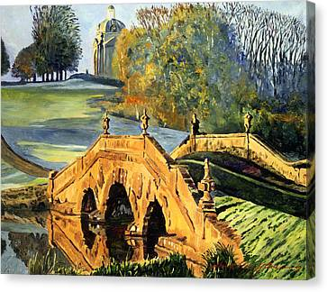 355 Ancient English Bridge Canvas Print by David Lloyd Glover