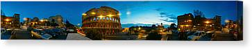 360 Degree View Of An Amphitheater Lit Canvas Print by Panoramic Images