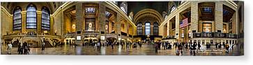 360 Panorama Of Grand Central Terminal Canvas Print by David Smith