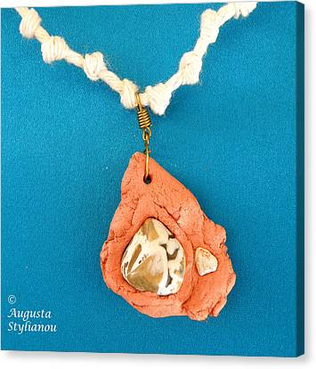 Aphrodite Gamelioi Necklace Canvas Print by Augusta Stylianou