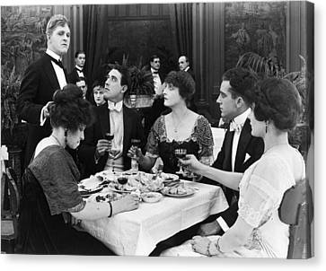 Silent Film Still: Drinking Canvas Print by Granger