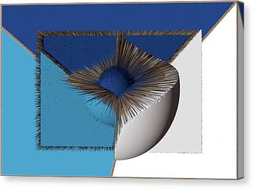3d Abstract 19 Canvas Print by Angelina Vick
