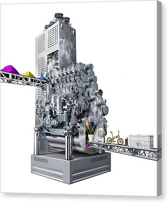 3d Printer, Conceptual Artwork Canvas Print by Science Photo Library