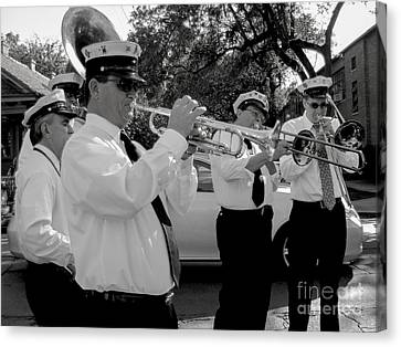 3rd Line Brass Band Second Line Canvas Print by Renee Barnes
