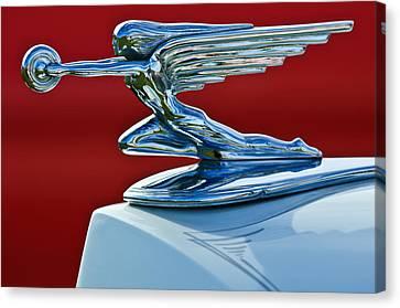 1936 Packard Hood Ornament Canvas Print by Jill Reger