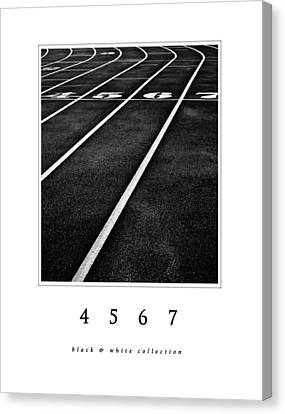 4 5 6 7 Black And White Collection Canvas Print by Greg Jackson
