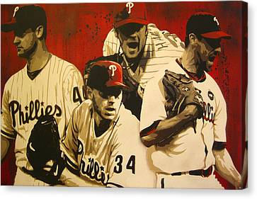 4 Aces Canvas Print by Bobby Zeik