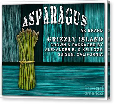 Asparagus Farm Canvas Print by Marvin Blaine