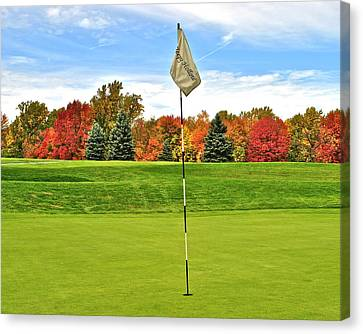 Autumn Golf Canvas Print by Frozen in Time Fine Art Photography